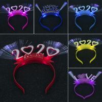 2020 Happy New Year LED Flashing Glowing LOVE Hair Hoop Party Headband Christmas