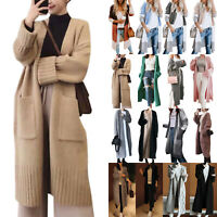 Women Open Front Cardigan Coat Knitted Sweater Long Sleeve Jacket Tops Outwear