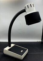 Vintage  MCM Retro Post-Modern Black & white Gooseneck Desk Lamp