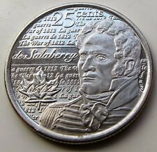CANADA 2013 - WAR OF 1812 - DE SALABERRY- 25¢ COIN 4th OF SERIES IN RCM WRAP