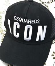 """New Unisex Black Cap Embroidery White letter """"ICON"""" Snapback Flat Cap Sports Hat"""