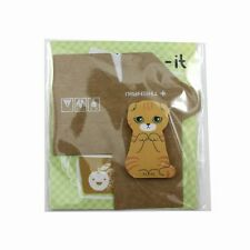 60 Page New 3D Cat Shape Sticky Note Message Pad Bookmark Memo Marker Tab Stick