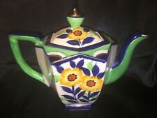 Elegant Moriyama Hand Painted Floral Teapot Circa 1945