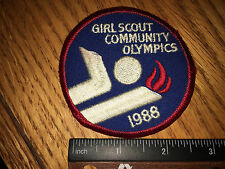 Girl Scout Patch-Vintage-Girl Scout Community Olympics 1988-New-Qty1