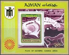 Ajman 1971 ** Bl. 234 A M/S Olympische Spiele Olympic Games