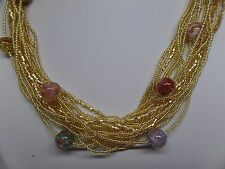 MURANO GLASS MULTISTRAND NECKLACE & BRACELET SET! HANDMADE IN ITALY!