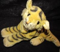 "VINTAGE TIGER GERMAN ? STEIFF ? 15"" STRIPED SILK PLUSH JUNGLE CAT ANTIQUE BEAR"