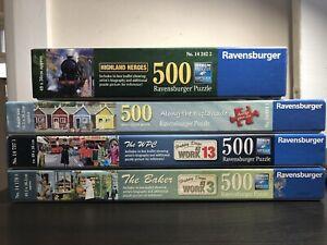 4x500 Piece Jigsaw Puzzle Bundle Joblot - MISSING PIECES Ravensburger Puzzles