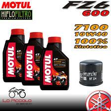 MANTENIMIENTO 3 L ACEITE MOTUL 7100 10W40 + FILTRO DE ACEITE HIFLO HF204 YAMAHA