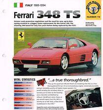 1992 / 1993 / 1994 FERRARI 348 TS/  348TS IMP Brochure