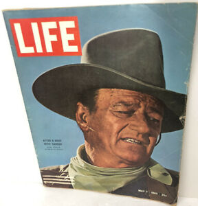 Life Magazine May 7, 1965 John Wayne Cover & Inside Phtos and Article