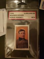 Honus wagner T206 Wagner Estate MT9 mint uncirculated 2009