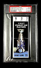 WAYNE GRETZKY SIGNED 1987 STANLEY CUP GAME 5 TICKET STUB 5/26/1987 PSA/DNA AUTO