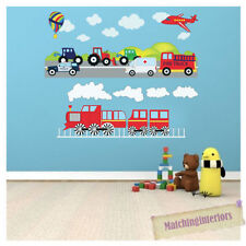 Vehicles Nursery Wall Decals & Stickers for Children