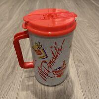 Vintage McDonald's & Coca Cola 32oz Thermos Flask Cup Red & Gray