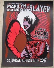 MARILYN MANSON / SLAYER - Denver, Colorado 2007 Concert / Gig Poster #'d 17/171