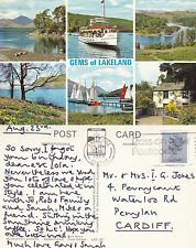 1986 MULTI VIEWS GEMS OF LAKELAND LAKE DISTRICT CUMBRIA COLOUR POSTCARD