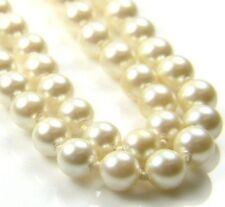 "9ct 9Carat Yellow Gold Freshwater Pearl Set Chain Beaded Necklace 17.00"" Inches"