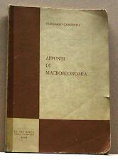 APPUNTI DI MACROECONOMIA - G.Gandolfo [libro,la sapienza libreria universitaria]