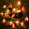 10LED Retro Kerosene String Lights Lantern Lamp Party Light Strip for Hotel Club
