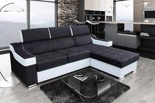Schönes und modernes Ecksofa Negro L Couch Stoff Eckoleder Sofagarnitur 01