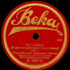 """DOPPPEL-QUARTETT """"BEETHOVEN"""" VELBERT Der Soldat / Horch, was kommt von...  S9679"""