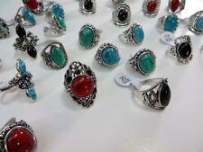 15pcs  jewelry turquoise stone wholesale jewelry fashion rings