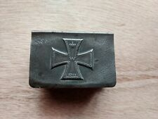 Wwi German Iron Cross Matchbox Cover With German matches