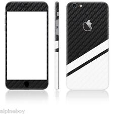 3D Textured Carbon Skin Cover Sticker Decal Vinyl Wrap For ALL Apple iPhone Case