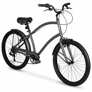 "Hyper 26"" Commute Men's Comfort Bike Gray Fast free shipping new arrival"