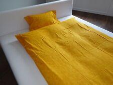 Satin-Bettwäsche Mandarin, aus 100% Bio-Baumwolle, 80x80/135x200 Gelb NEU !