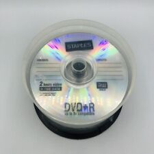 STAPLES DVD-R 4.7GB 16x Blank Recordable Media Disc Spindle Of 44