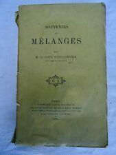 HAUSSONVILLE Souvenirs et Mélanges