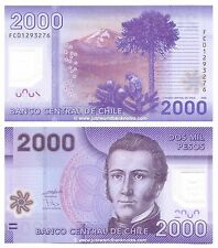 Chile 2000 Pesos 2009 P-162a  Polymer Banknotes  UNC