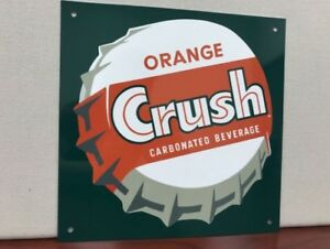 Vintage Reproduction Soda pop Orange Crush Mancave Sign