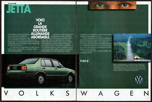 1985 VOLKSWAGEN Jetta GL Vintage Original 2-pages Print AD Green French Canada
