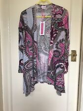 waterfall cardigan Paisley Print By B.YOU IN BRIGHT PINK SIZE 8