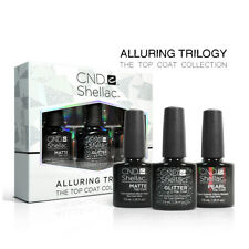 CND Shellac Alluring Trilogy - The Top Coat Collection - Matte Glitter & Pearl