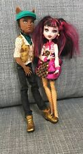 Monster High Draculaura And Clawd Wolf Doll Giftset Lot Of 2