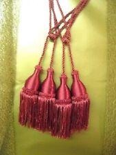 Pair Red Curtain Tieback / Tiebacks / Tassel