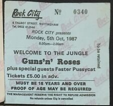 Guns N Roses Autographed Ticket