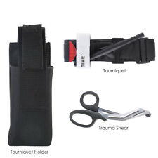 First Aid Buckle Medical One Hand Tourniquet Strap Trauma Shear Molle Pouch