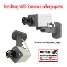 Kameraattrappe mit Bewegungsmelder & Stellmotor Überwachungskamera Dummy Kamera