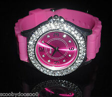 Ladies Henley Watch  - Hot Pink