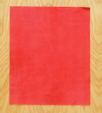 SUEDE LEATHER PIECES 1 @ 50CM X 40CM STRAWBERRY 1.4 mm THICK