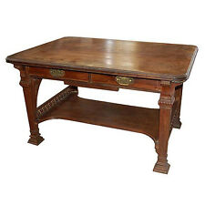 American Victorian Rosewood Library Table by Herter Bros 1880. #6412