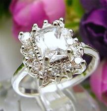 925 Sterling Silver Filled M34wq Sapphire Cocktail Engagement Ring Size 8