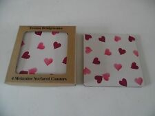 Emma Bridgewater Melamine Coasters Set of Four Pink Hearts Mats New Boxed