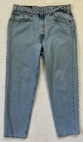 Vintage Levis 550 Relaxed Fit Straight Leg Denim Jeans 38x32 90s USA Paper Tag