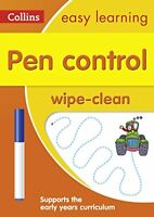 Pen Control Age 3-5 Wipe Clean Activity Book Collins Easy Learning Preschool